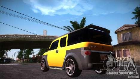 Honda Element LX para GTA San Andreas traseira esquerda vista