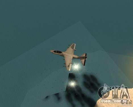 Cluster Bomber para GTA San Andreas por diante tela