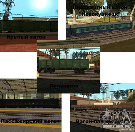 Modificação da estrada de ferro III para GTA San Andreas segunda tela