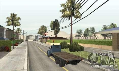 KrAZ-257 para GTA San Andreas traseira esquerda vista