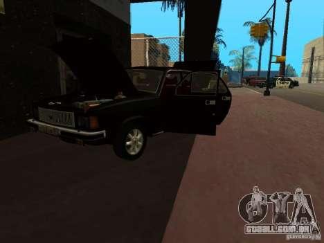 GAZ 3102 para GTA San Andreas vista traseira