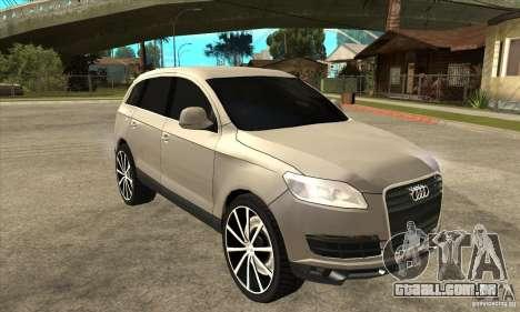 Audi Q7 v2.0 para GTA San Andreas vista traseira