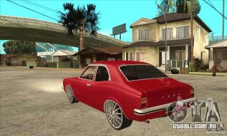 Ford Taunus Coupe para GTA San Andreas traseira esquerda vista