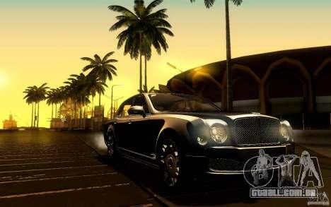 Bentley Mulsanne 2010 v1.0 para GTA San Andreas interior