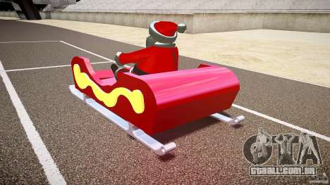 Santa Sled normal version para GTA 4 traseira esquerda vista