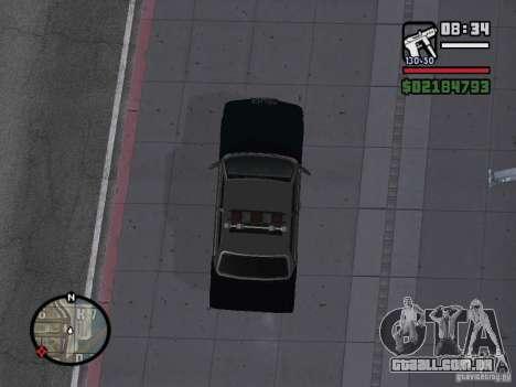 Admiral SFPD para GTA San Andreas traseira esquerda vista