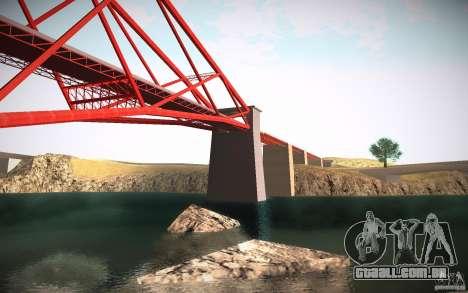 HD Red Bridge para GTA San Andreas quinto tela