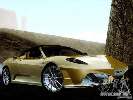 Ferrari F430 Scuderia Spider 16M para GTA San Andreas vista inferior