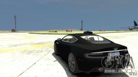 Aston Martin DBS v 1.1 sem tonificação para GTA 4 traseira esquerda vista