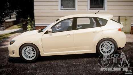 Subaru Impreza WRX STi 2009 para GTA 4 esquerda vista