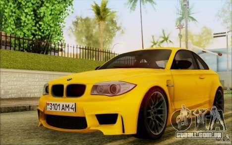 BMW 1M Coupe para GTA San Andreas esquerda vista