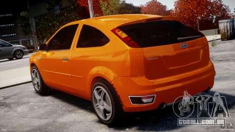 Ford Focus ST para GTA 4 traseira esquerda vista