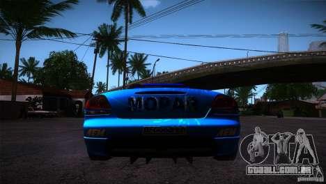 Dodge Viper Mopar Drift para GTA San Andreas traseira esquerda vista