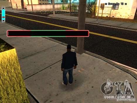 Uma nova interface para SAMP para GTA San Andreas por diante tela