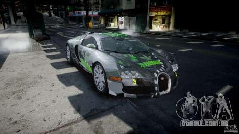 Bugatti Veyron 16.4 v1.0 new skin para GTA 4 vista de volta