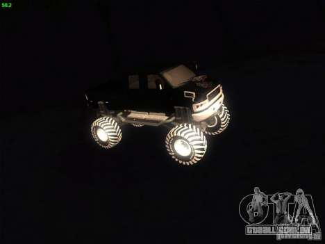 GMC Monster Truck para GTA San Andreas esquerda vista