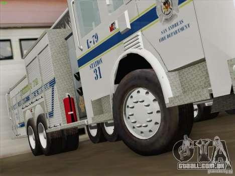 Pierce Puc Aerials. Bone County Fire & Ladder 79 para GTA San Andreas vista inferior