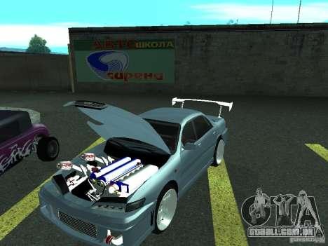 Toyota Carina ED  DRFT para GTA San Andreas traseira esquerda vista