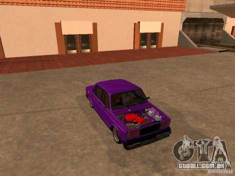JDM VAZ 2107 para vista lateral GTA San Andreas