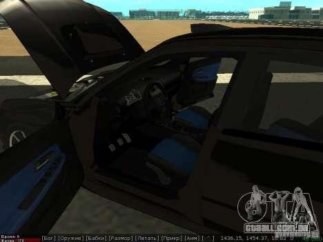 Subaru Impreza WRX para GTA San Andreas vista traseira