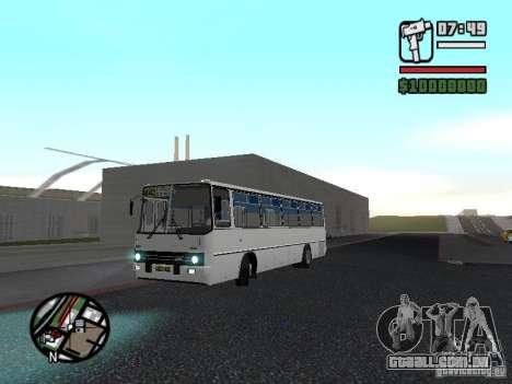 Cidade de Ikarus 266 para GTA San Andreas vista traseira