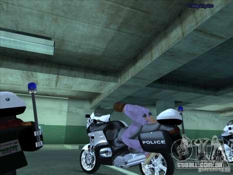 CopBike para GTA San Andreas vista interior