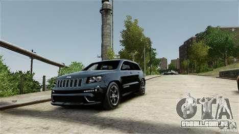 Jeep Grand Cherokee SRT8 para GTA 4 vista interior