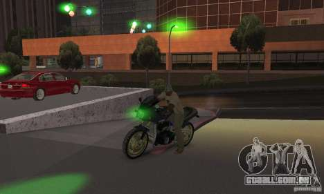 Luzes verdes para GTA San Andreas por diante tela