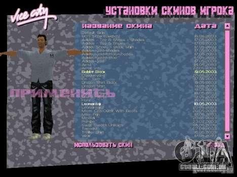 Pack de skins para o Tommy para GTA Vice City por diante tela