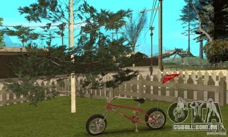 BMX Long 2 New Wheel para GTA San Andreas vista traseira