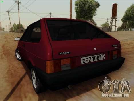 VAZ 21083i para GTA San Andreas traseira esquerda vista