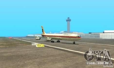 Boeing 707-300 para GTA San Andreas vista traseira