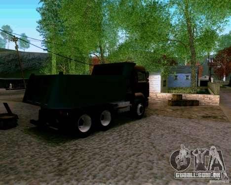 Caminhão KAMAZ 6520 para GTA San Andreas esquerda vista