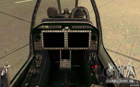 AH-1Z Viper para GTA San Andreas vista interior