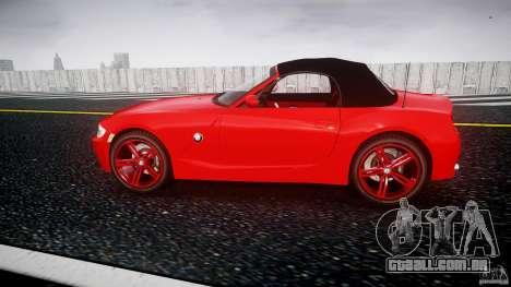 BMW Z4 Roadster 2007 i3.0 Final para GTA 4 esquerda vista