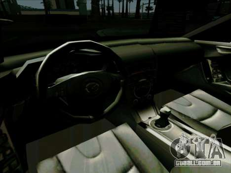 Mazda RX-8 para GTA San Andreas vista interior