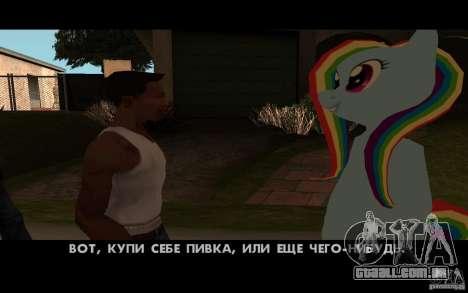 Rainbow Dash Skin para GTA San Andreas quinto tela