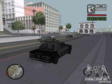 Admiral SFPD para GTA San Andreas esquerda vista