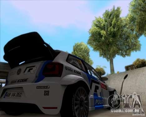 Volkswagen Polo WRC para GTA San Andreas vista traseira