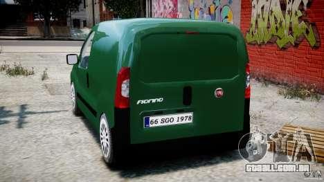 Fiat Fiorino 2008 Van para GTA 4 traseira esquerda vista