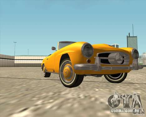 Mercedes Benz 190SL 1960 para vista lateral GTA San Andreas