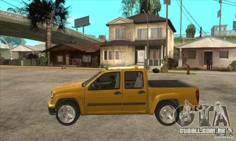 GMC Canyon 2007 para GTA San Andreas esquerda vista