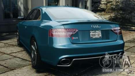 Audi RS5 2011 [EPM] para GTA 4 traseira esquerda vista