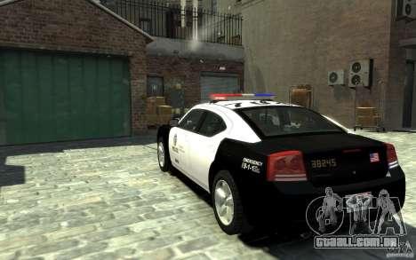 Dodge Charger LAPD V1.6 para GTA 4 traseira esquerda vista