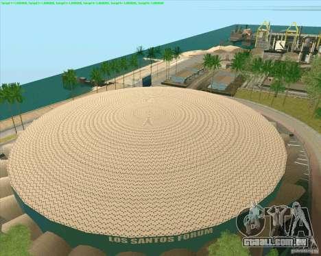 Novas texturas de Los Santos estádio Fórum para GTA San Andreas terceira tela
