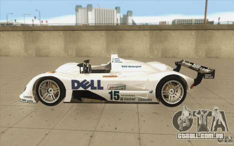 BMW V12 LeMans - Stock para GTA San Andreas esquerda vista