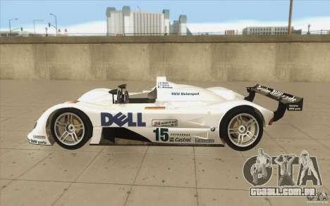 BMW V12 LeMans - Stock para GTA San Andreas esquerda vista