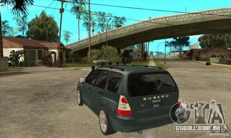 Subaru Forester para GTA San Andreas traseira esquerda vista