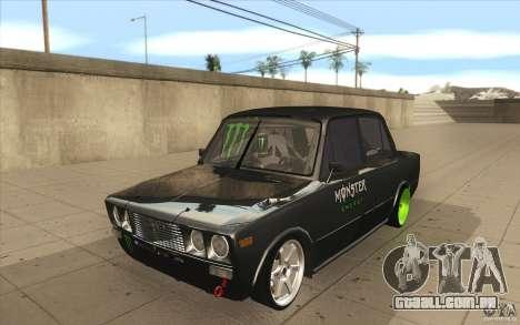 VAZ 2106 Lada Drift afinado para GTA San Andreas