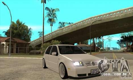 VW Golf 4 V6 Bolf para GTA San Andreas vista traseira